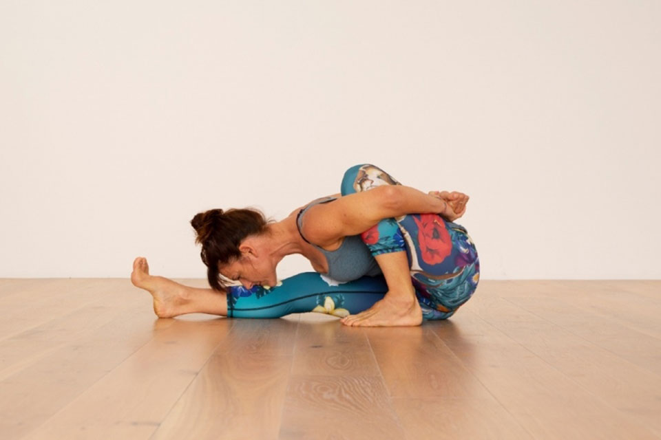Pose example from Hatha Yoga