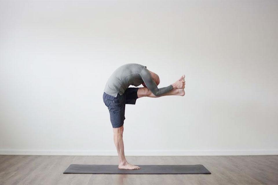 Pose example from Bikrim Yoga